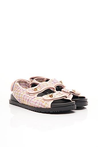 Sandales/Nu pieds rose CLAROSA pour femme