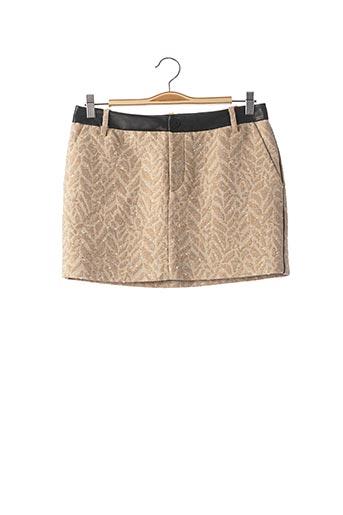 Mini-jupe beige ZADIG & VOLTAIRE pour femme