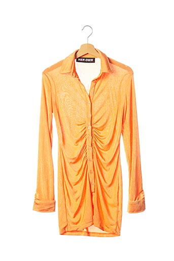Robe mi-longue orange HER OWN pour femme