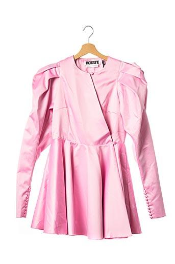 Robe mi-longue rose ROTATE pour femme