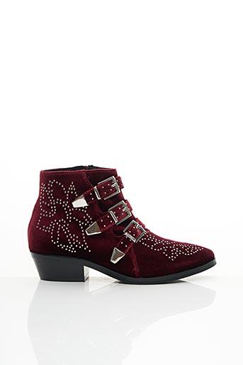 Bottines/Boots rouge BRUNO PREMI pour femme