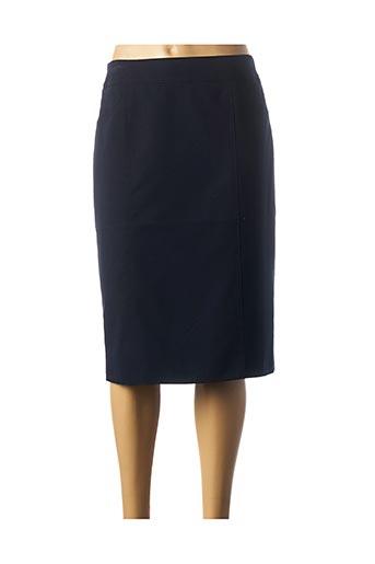 Jupe mi-longue bleu BARBARA LEBEK pour femme