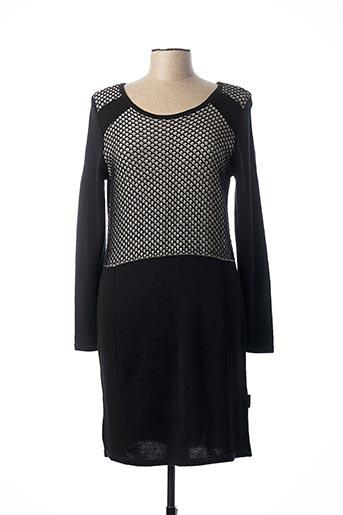 Robe mi-longue noir CAPUCCINO pour femme