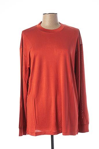 T-shirt manches courtes orange EQUIPMENT pour femme