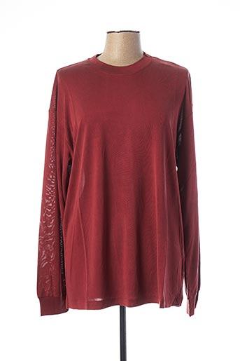 T-shirt manches courtes rouge EQUIPMENT pour femme