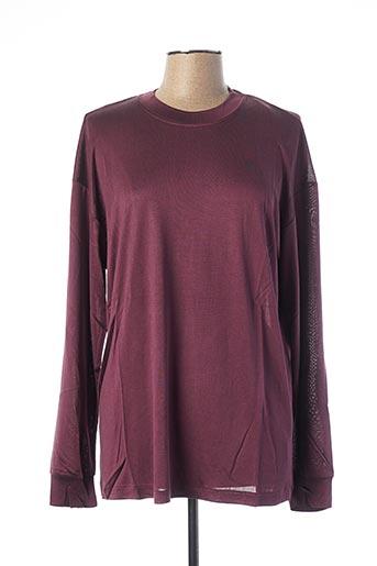 T-shirt manches courtes violet EQUIPMENT pour femme