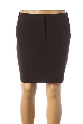 Jupe courte marron TEENFLO pour femme