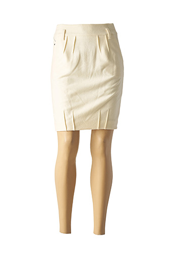 Jupe courte beige TEENFLO pour femme