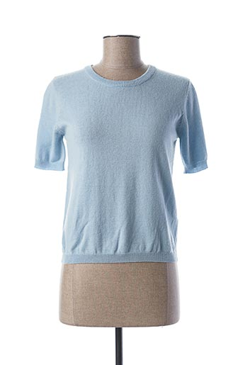 Pull col rond bleu GUESS pour femme