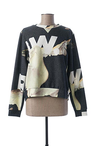 Pull col rond gris G STAR pour femme
