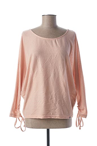 Pull col rond rose SALSA pour femme