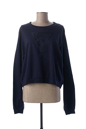 Sweat-shirt bleu GUESS pour femme