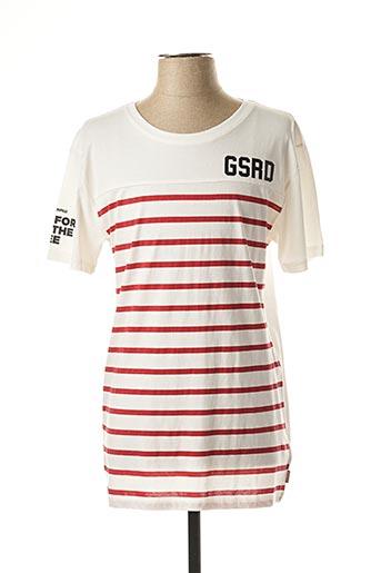 T-shirt manches courtes rouge G STAR pour garçon