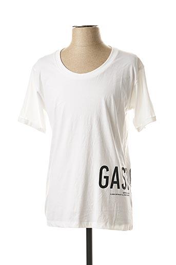 T-shirt manches courtes blanc GERTRUDE + GASTON pour homme