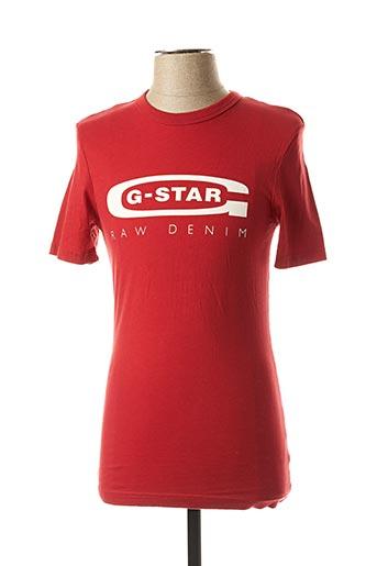 T-shirt manches courtes rouge G STAR pour homme
