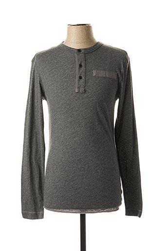 T-shirt manches longues gris G STAR pour garçon