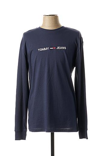 T-shirt manches longues bleu TOMMY HILFIGER pour homme
