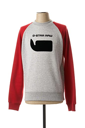 Sweat-shirt gris G STAR pour homme