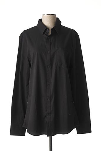 Chemise manches longues noir GUESS pour homme