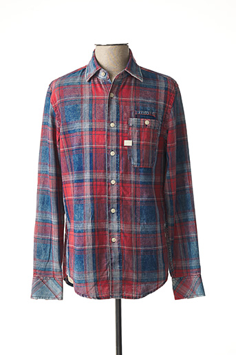 Chemise manches longues rouge G STAR pour homme