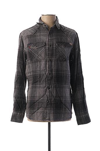 Chemise manches longues gris JACK & JONES pour homme