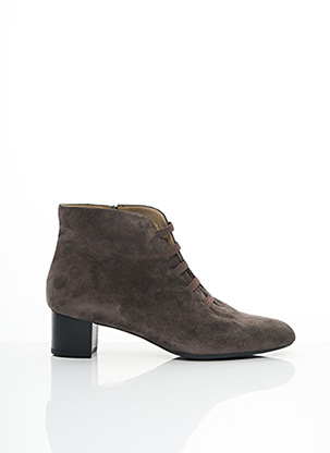 Bottines/Boots gris BRENDA ZARO pour femme