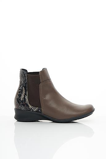 Bottines/Boots marron ARTIKA SOFT pour femme
