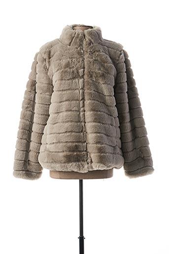 Manteau court gris TIFFOSI pour femme