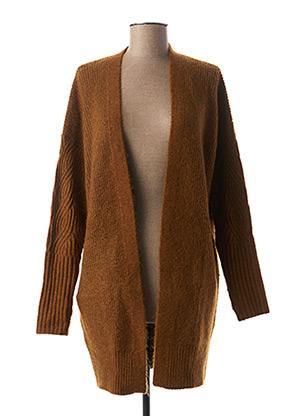 Gilet manches longues marron I.CODE (By IKKS) pour femme