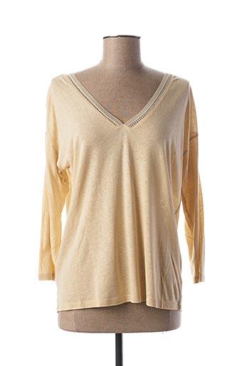 T-shirt manches longues beige LOLA ESPELETA pour femme