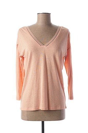 T-shirt manches longues rose LOLA ESPELETA pour femme