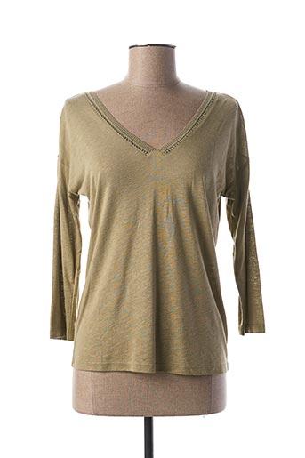 T-shirt manches longues vert LOLA ESPELETA pour femme