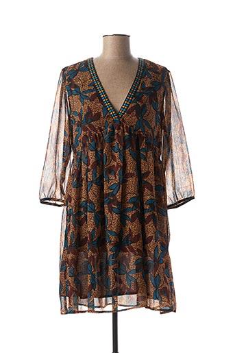 Robe courte marron TEDDY SMITH pour femme