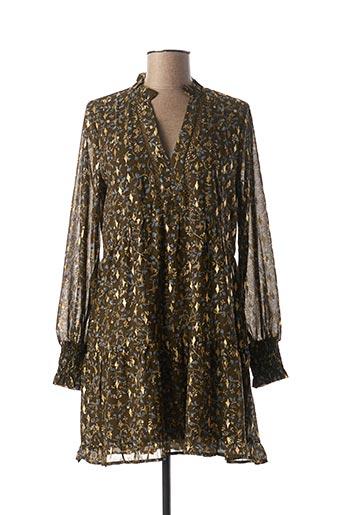 Robe courte vert CHERRY PARIS pour femme