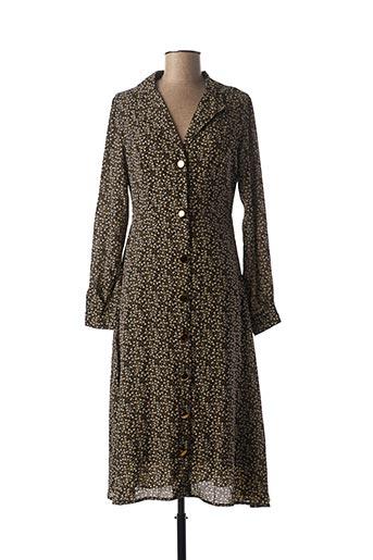 Robe mi-longue noir CHERRY PARIS pour femme