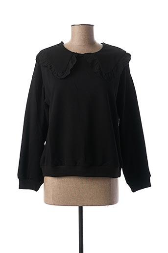 Sweat-shirt noir ELLI WHITE pour femme