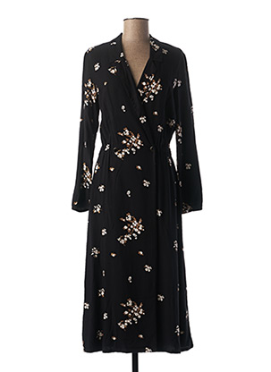 Robe mi-longue noir I.CODE (By IKKS) pour femme