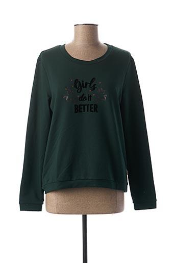 Sweat-shirt vert I.CODE (By IKKS) pour femme