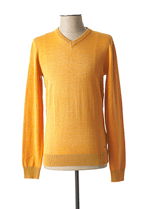 Pull col V jaune PETROL INDUSTRIES pour homme