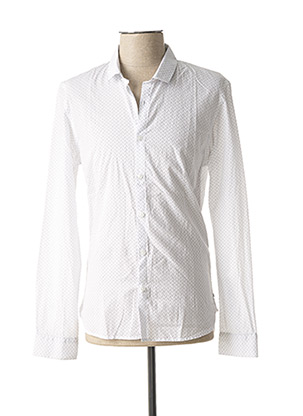Chemise manches longues blanc TEDDY SMITH pour homme