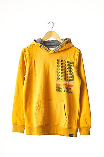 Sweat-shirt jaune GARCIA pour garçon