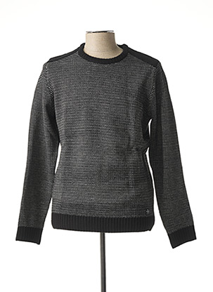 Pull col rond noir TIFFOSI pour homme