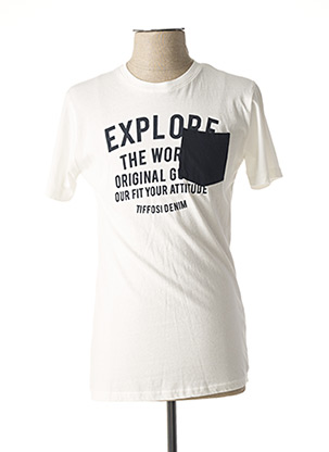 T-shirt manches courtes blanc TIFFOSI pour homme