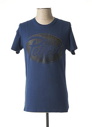 T-shirt manches courtes bleu PETROL INDUSTRIES pour homme