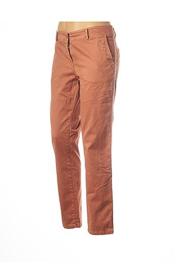 Pantalon 7/8 orange PAKO LITTO pour femme