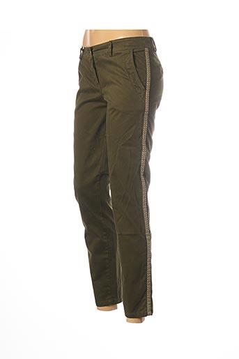 Pantalon 7/8 vert PAKO LITTO pour femme