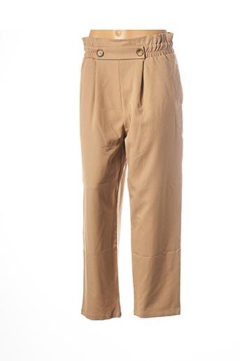 Pantalon casual beige CHERRY PARIS pour femme