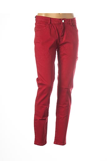 Pantalon casual rouge MORGAN pour femme