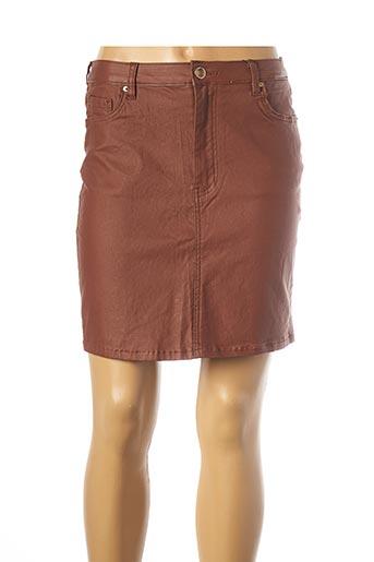 Jupe courte marron TIFFOSI pour femme