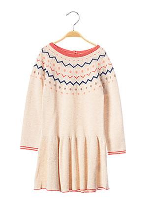 Robe mi-longue beige 3 POMMES pour fille